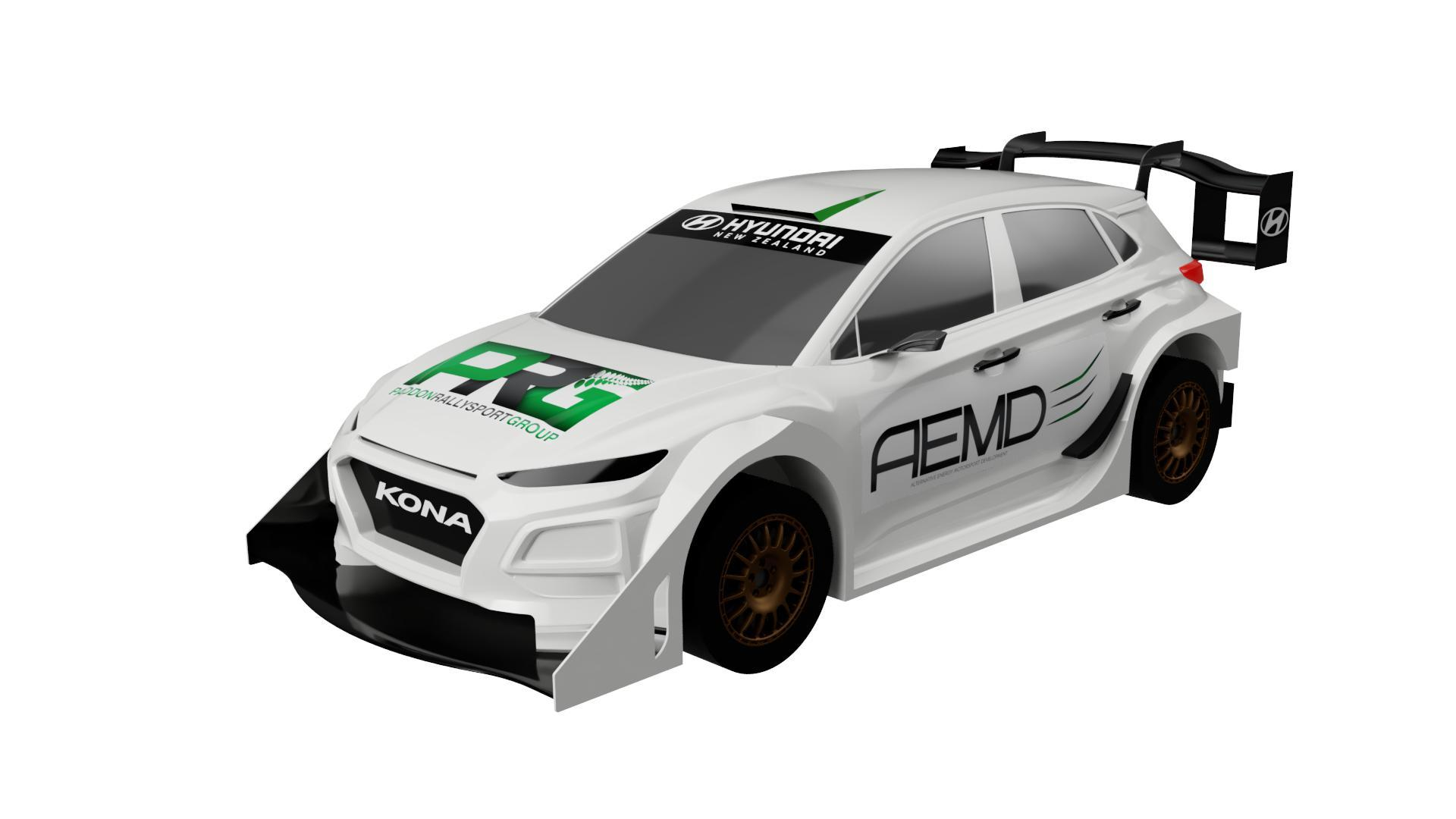 <h3>HYUNDAI KONA EV RALLY CAR</h3>